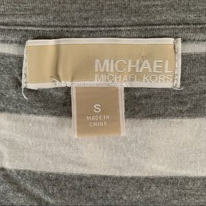 MICHAEL Michael Kors Tops - MICHAEL KORS MK Small Gray White Striped Loose Top